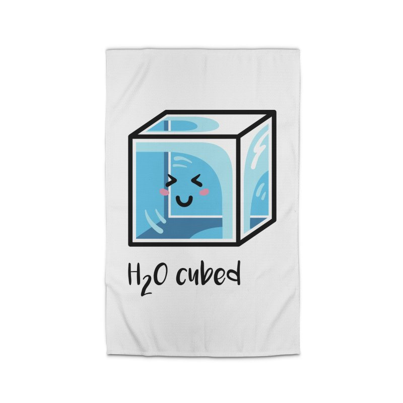 H2O Cubed Ice Block Chemistry Science Joke Home Rug by Flaming Imp's Artist Shop