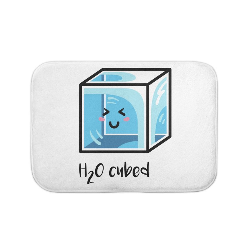 H2O Cubed Ice Block Chemistry Science Joke Home Bath Mat by Flaming Imp's Artist Shop