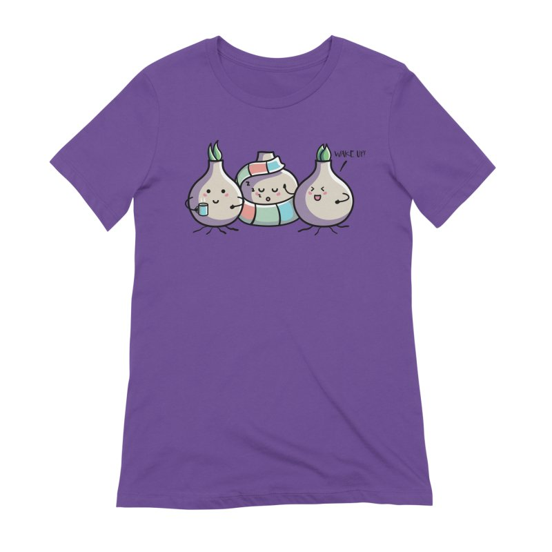 Kawaii Cute Spring Bulbs Women's Extra Soft T-Shirt by Flaming Imp's Artist Shop