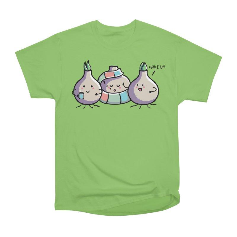 Kawaii Cute Spring Bulbs Men's Heavyweight T-Shirt by Flaming Imp's Artist Shop