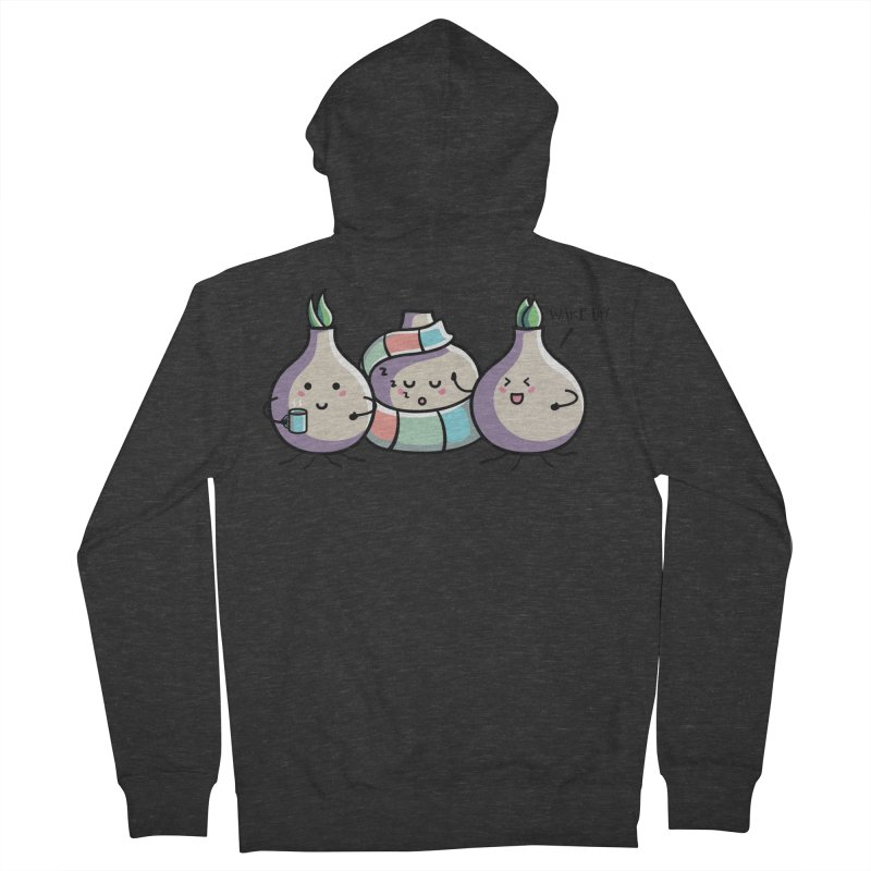 Kawaii Cute Spring Bulbs Women's French Terry Zip-Up Hoody by Flaming Imp's Artist Shop