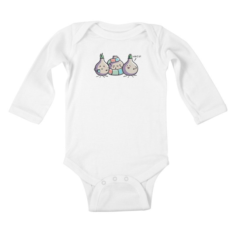 Kawaii Cute Spring Bulbs Kids Baby Longsleeve Bodysuit by Flaming Imp's Artist Shop