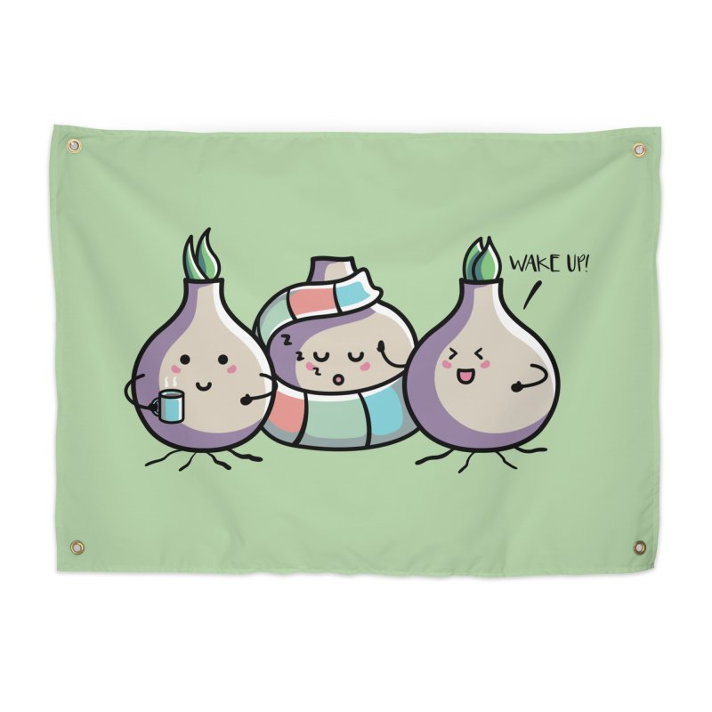 Kawaii Cute Spring Bulbs Home Tapestry by Flaming Imp's Artist Shop