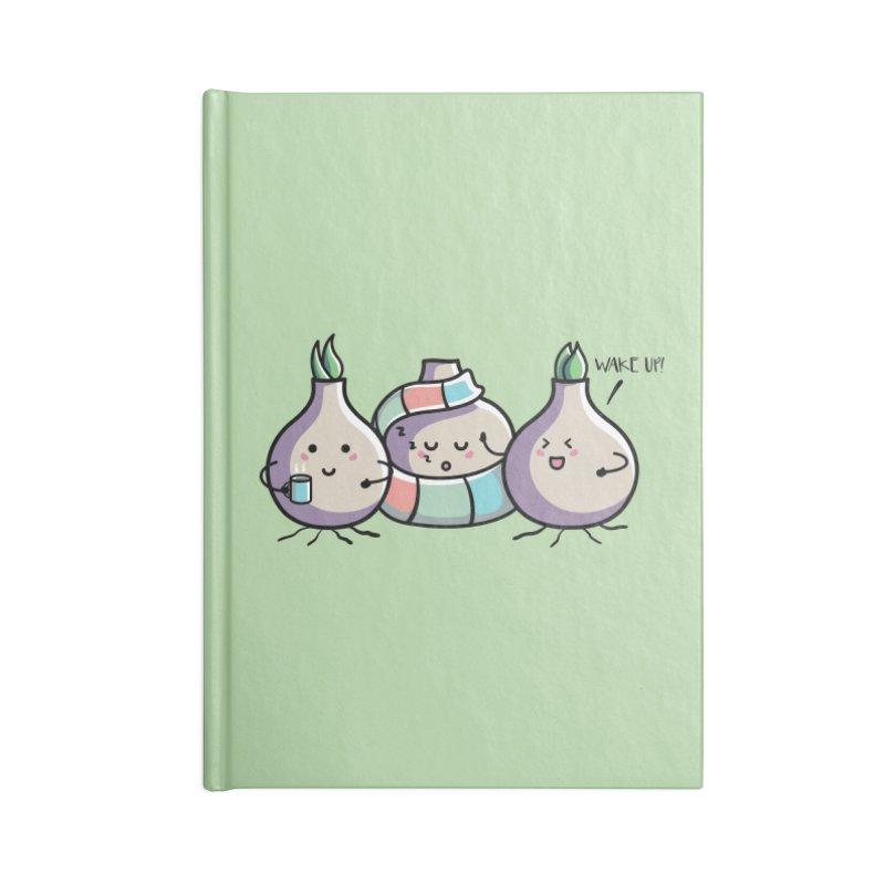 Kawaii Cute Spring Bulbs Accessories Blank Journal Notebook by Flaming Imp's Artist Shop