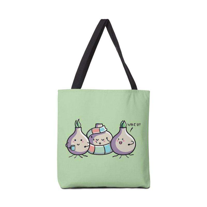 Kawaii Cute Spring Bulbs Accessories Tote Bag Bag by Flaming Imp's Artist Shop