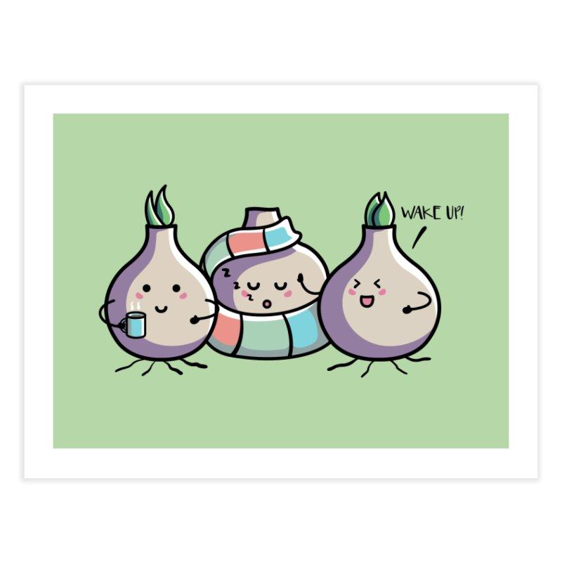 Kawaii Cute Spring Bulbs Home Fine Art Print by Flaming Imp's Artist Shop