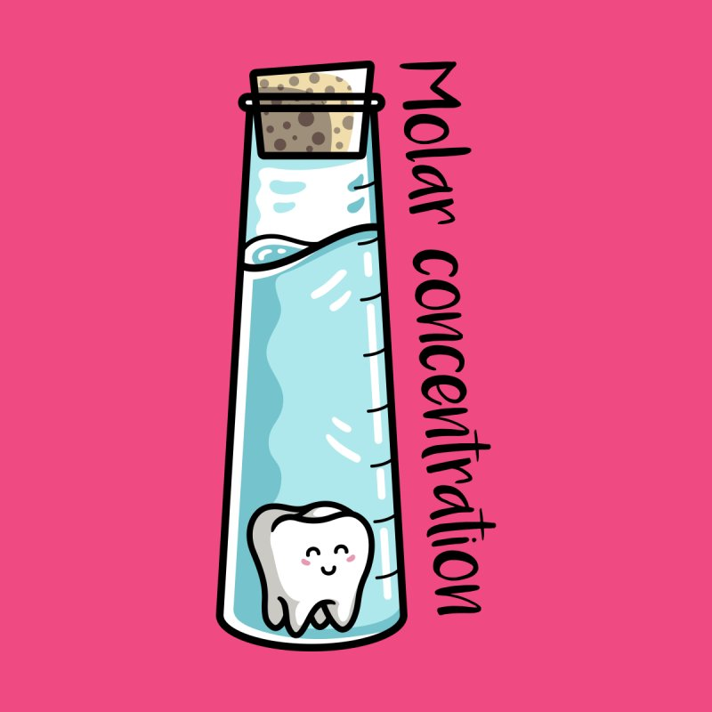 Molar Concentration Chemistry Joke by Flaming Imp's Artist Shop