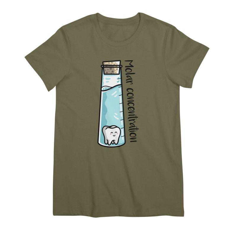 Molar Concentration Chemistry Joke Women's Premium T-Shirt by Flaming Imp's Artist Shop