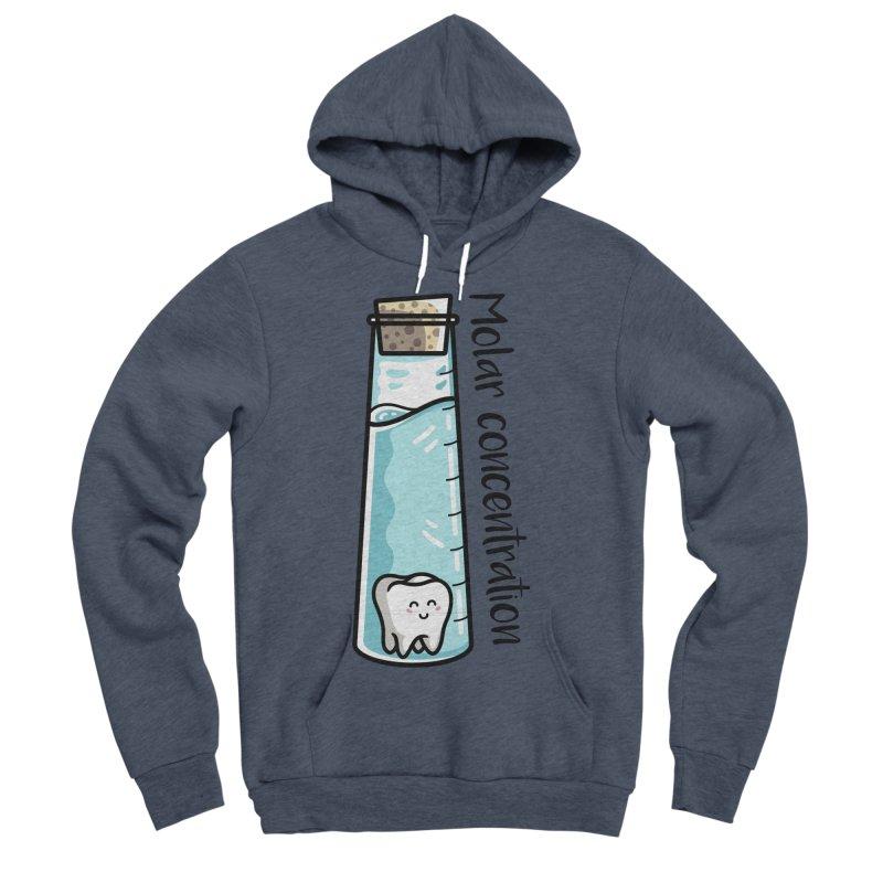Molar Concentration Chemistry Joke Men's Sponge Fleece Pullover Hoody by Flaming Imp's Artist Shop