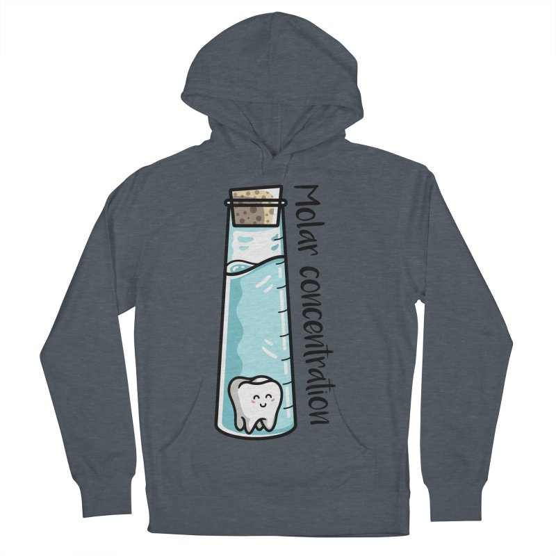 Molar Concentration Chemistry Joke Women's French Terry Pullover Hoody by Flaming Imp's Artist Shop