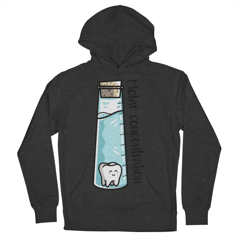Molar Concentration Chemistry Joke Men's French Terry Pullover Hoody by Flaming Imp's Artist Shop