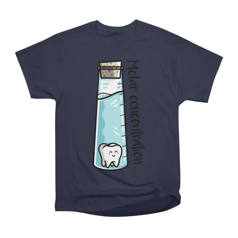 Molar Concentration Chemistry Joke Men's Heavyweight T-Shirt by Flaming Imp's Artist Shop