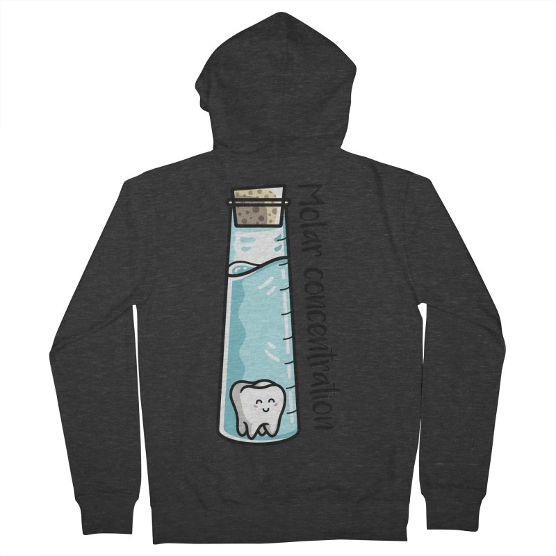 Molar Concentration Chemistry Joke Women's French Terry Zip-Up Hoody by Flaming Imp's Artist Shop