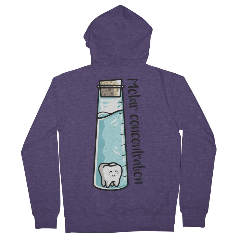 Molar Concentration Chemistry Joke Men's French Terry Zip-Up Hoody by Flaming Imp's Artist Shop