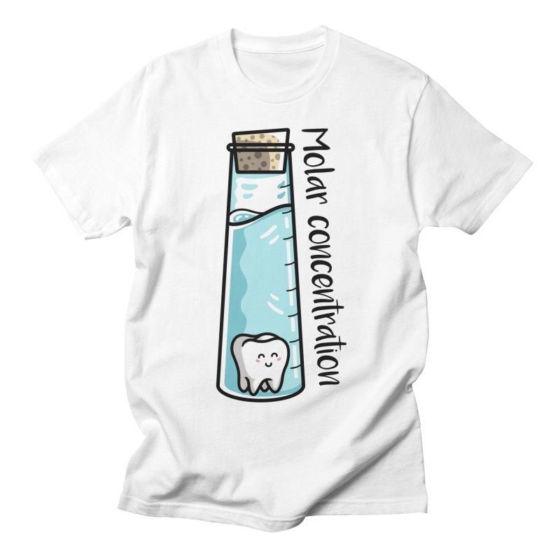Molar Concentration Chemistry Joke Men's Regular T-Shirt by Flaming Imp's Artist Shop