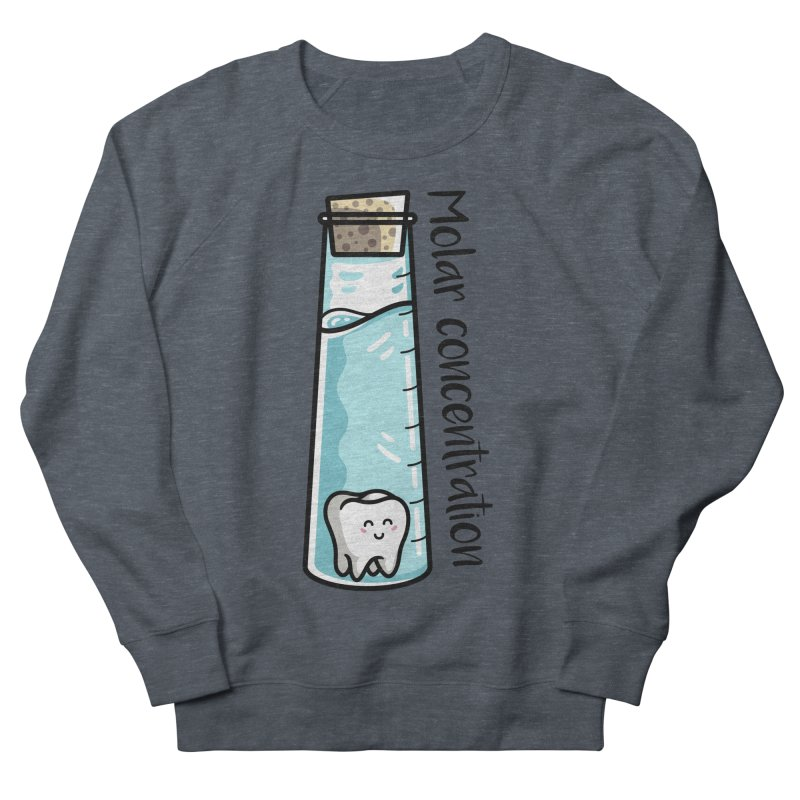 Molar Concentration Chemistry Joke Men's French Terry Sweatshirt by Flaming Imp's Artist Shop