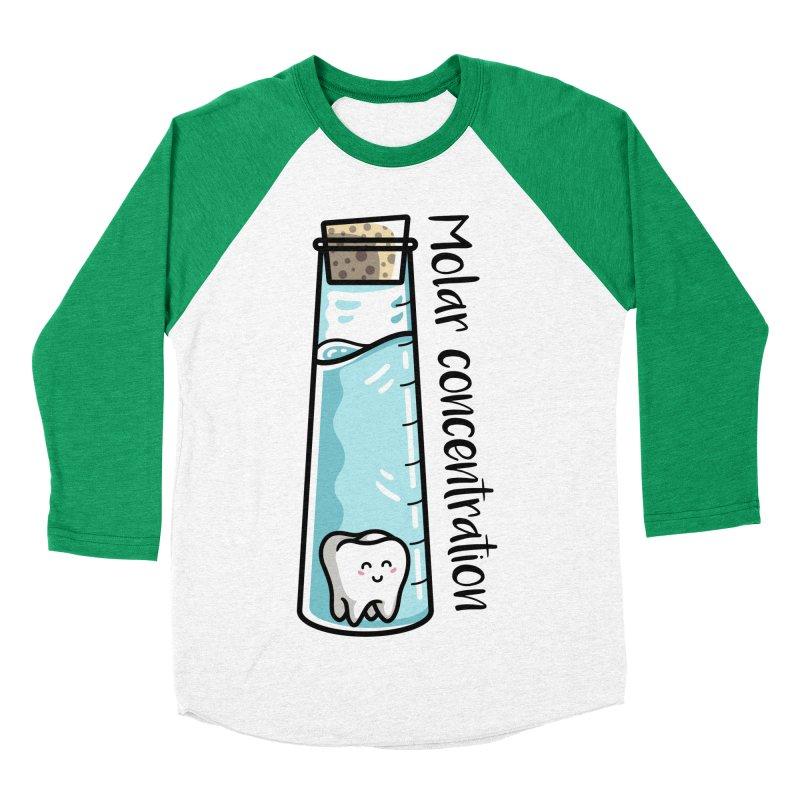 Molar Concentration Chemistry Joke Men's Baseball Triblend Longsleeve T-Shirt by Flaming Imp's Artist Shop