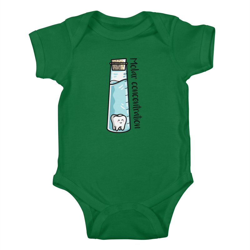 Molar Concentration Chemistry Joke Kids Baby Bodysuit by Flaming Imp's Artist Shop