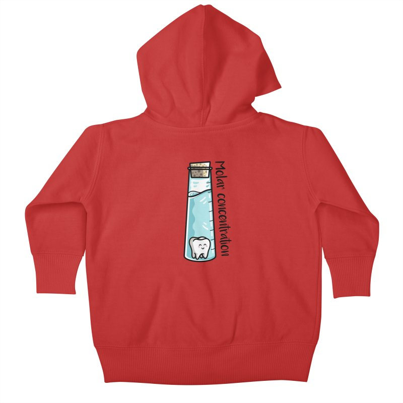 Molar Concentration Chemistry Joke Kids Baby Zip-Up Hoody by Flaming Imp's Artist Shop