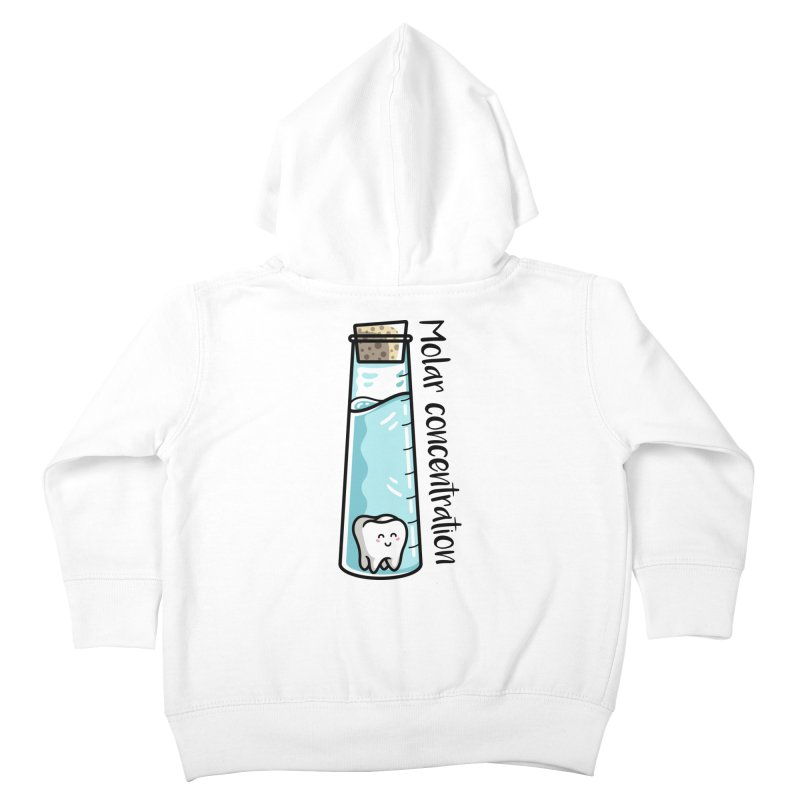 Molar Concentration Chemistry Joke Kids Toddler Zip-Up Hoody by Flaming Imp's Artist Shop