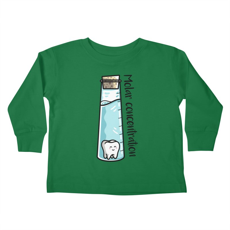 Molar Concentration Chemistry Joke Kids Toddler Longsleeve T-Shirt by Flaming Imp's Artist Shop