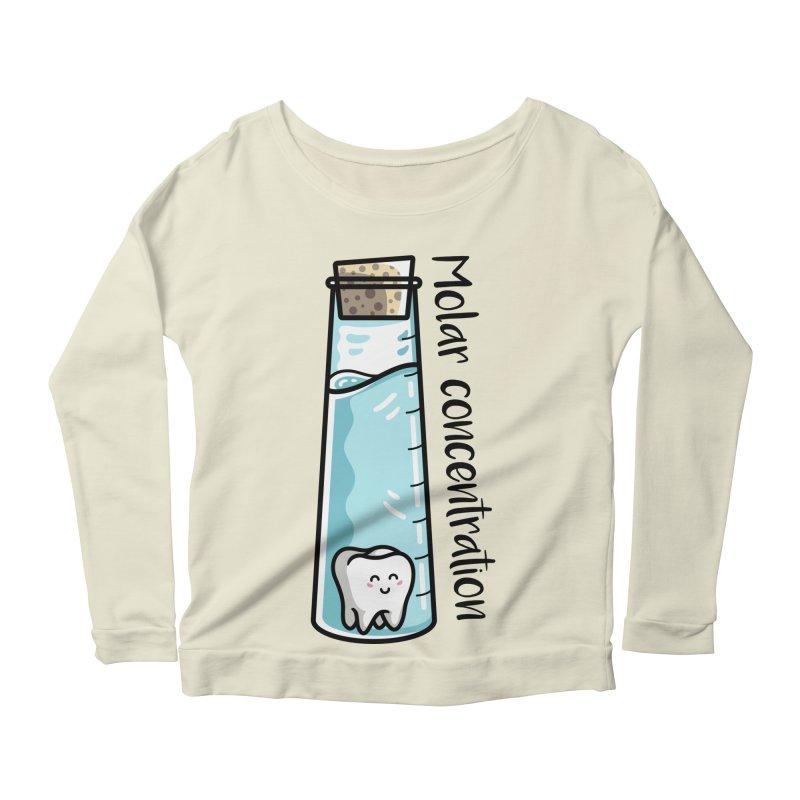 Molar Concentration Chemistry Joke Women's Scoop Neck Longsleeve T-Shirt by Flaming Imp's Artist Shop