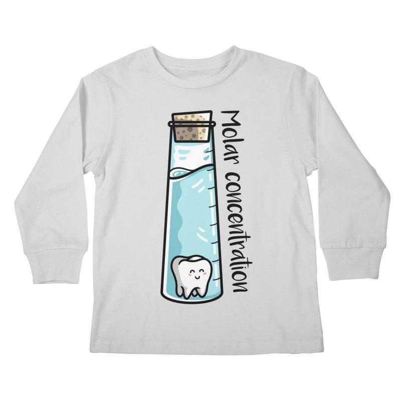 Molar Concentration Chemistry Joke Kids Longsleeve T-Shirt by Flaming Imp's Artist Shop