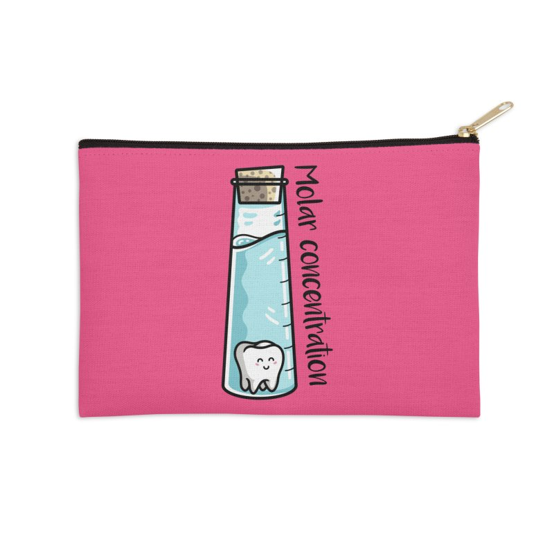 Molar Concentration Chemistry Joke Accessories Zip Pouch by Flaming Imp's Artist Shop