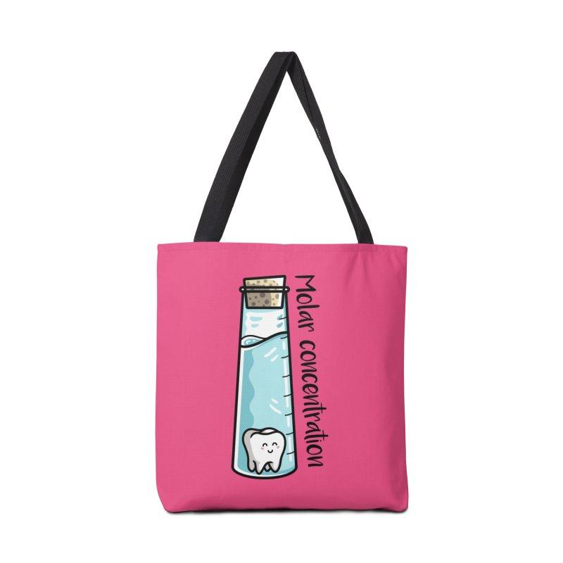 Molar Concentration Chemistry Joke Accessories Tote Bag Bag by Flaming Imp's Artist Shop