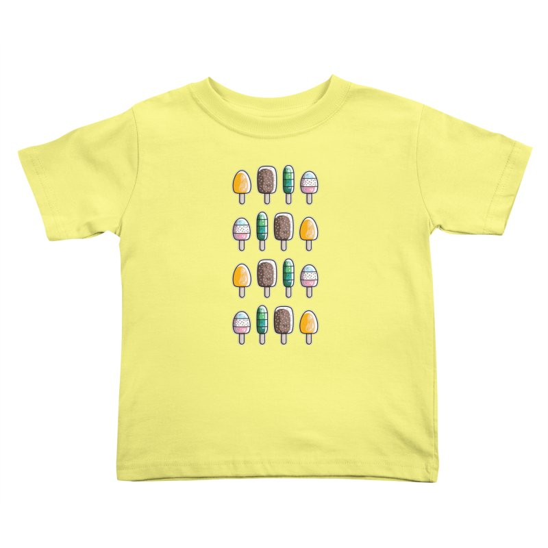 Fun Ice Lollies / Popsicles Kids Toddler T-Shirt by Flaming Imp's Artist Shop