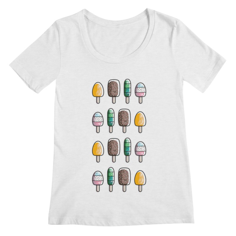 Fun Ice Lollies / Popsicles Women's Regular Scoop Neck by Flaming Imp's Artist Shop