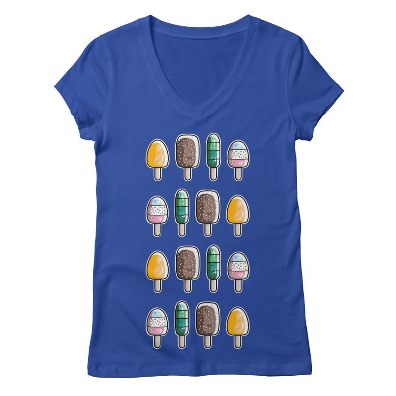 Fun Ice Lollies / Popsicles Women's Regular V-Neck by Flaming Imp's Artist Shop