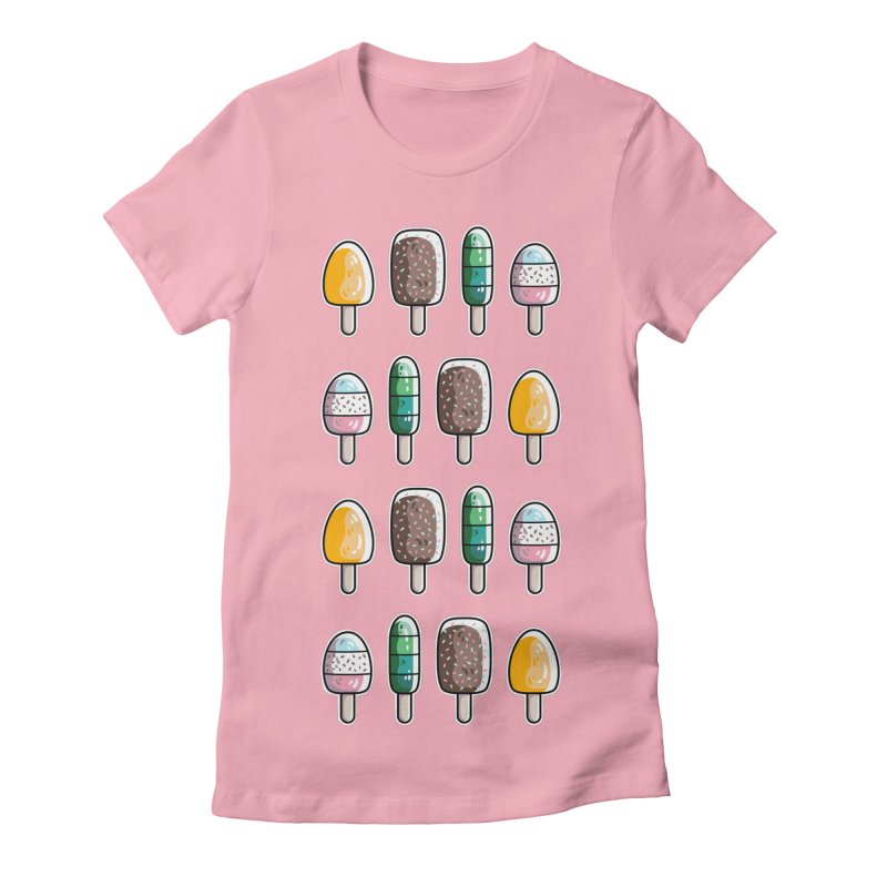 Fun Ice Lollies / Popsicles Women's Fitted T-Shirt by Flaming Imp's Artist Shop
