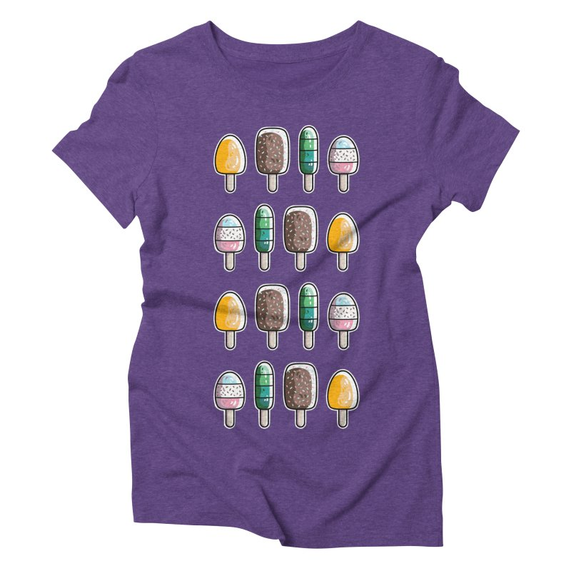 Fun Ice Lollies / Popsicles Women's Triblend T-Shirt by Flaming Imp's Artist Shop