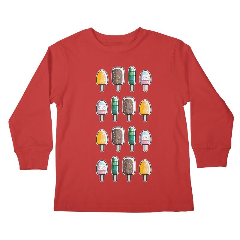 Fun Ice Lollies / Popsicles Kids Longsleeve T-Shirt by Flaming Imp's Artist Shop