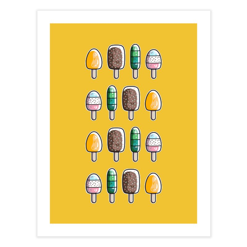 Fun Ice Lollies / Popsicles Home Fine Art Print by Flaming Imp's Artist Shop
