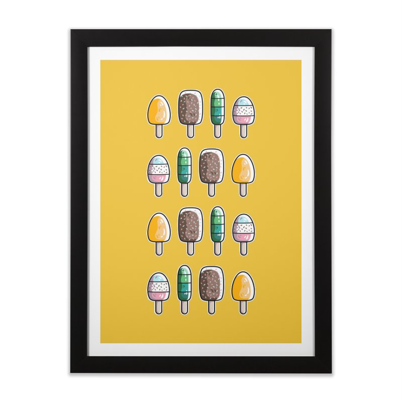 Fun Ice Lollies / Popsicles Home Framed Fine Art Print by Flaming Imp's Artist Shop