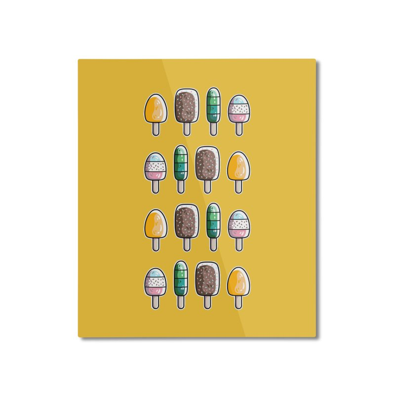 Fun Ice Lollies / Popsicles Home Mounted Aluminum Print by Flaming Imp's Artist Shop