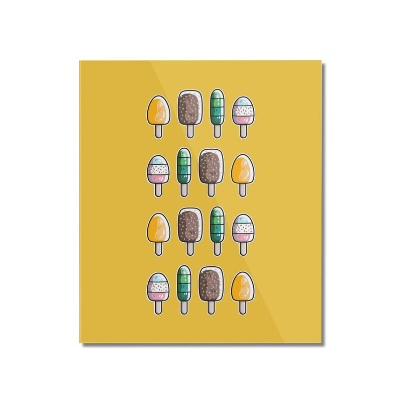Fun Ice Lollies / Popsicles Home Mounted Acrylic Print by Flaming Imp's Artist Shop