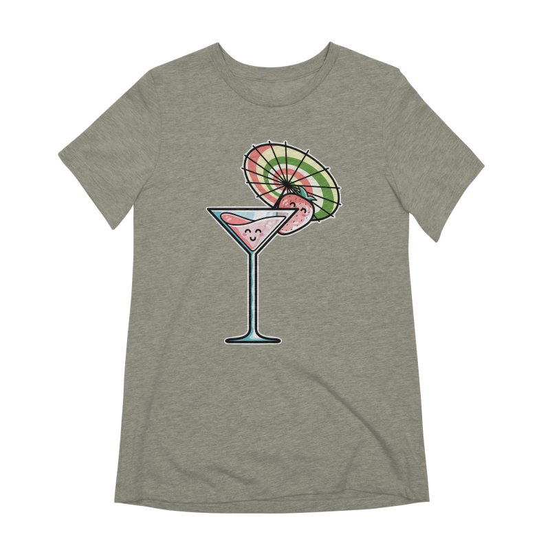 Kawaii Cute Kaylee's Strawberry Cocktail Women's Extra Soft T-Shirt by Flaming Imp's Artist Shop