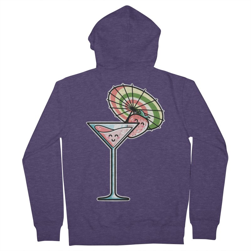 Kawaii Cute Kaylee's Strawberry Cocktail Men's French Terry Zip-Up Hoody by Flaming Imp's Artist Shop