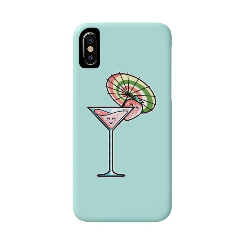 Kawaii Cute Kaylee's Strawberry Cocktail Accessories Phone Case by Flaming Imp's Artist Shop