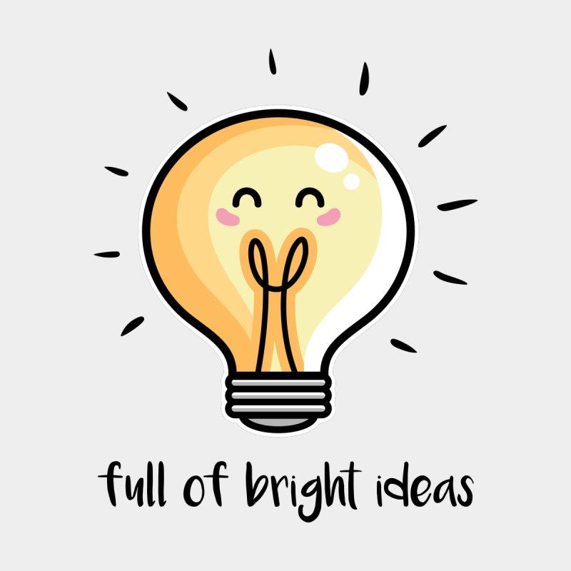 Kawaii Cute Lightbulb Of Bright Ideas by Flaming Imp's Artist Shop