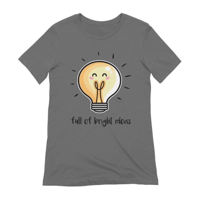 Kawaii Cute Lightbulb Of Bright Ideas Women's Extra Soft T-Shirt by Flaming Imp's Artist Shop