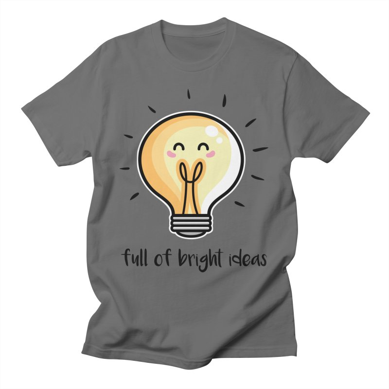 Kawaii Cute Lightbulb Of Bright Ideas Unisex T-Shirt by Flaming Imp's Artist Shop