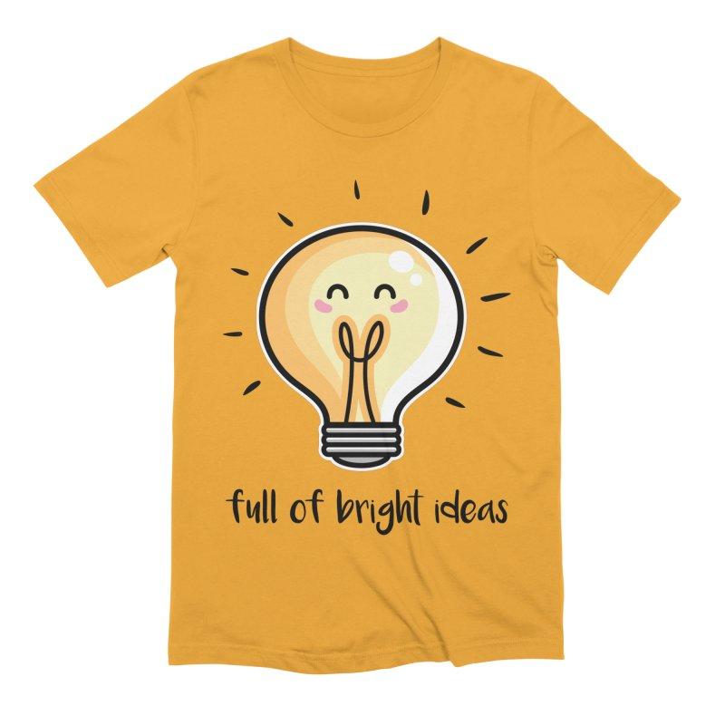 Kawaii Cute Lightbulb Of Bright Ideas Men's Extra Soft T-Shirt by Flaming Imp's Artist Shop