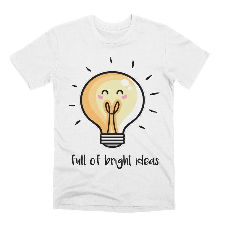 Kawaii Cute Lightbulb Of Bright Ideas Men's Premium T-Shirt by Flaming Imp's Artist Shop