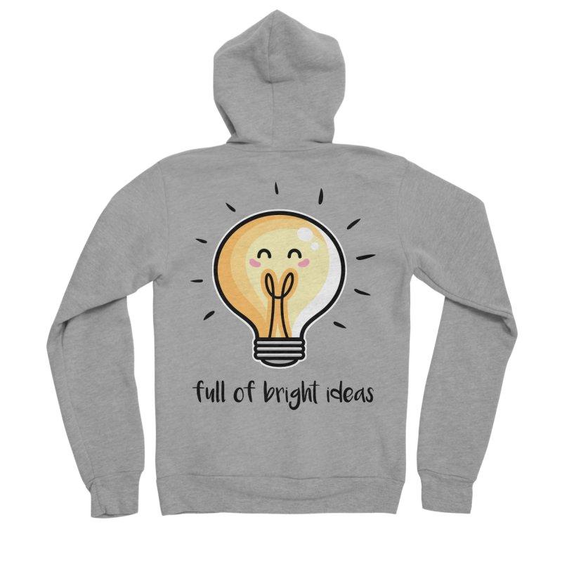 Kawaii Cute Lightbulb Of Bright Ideas Women's Sponge Fleece Zip-Up Hoody by Flaming Imp's Artist Shop