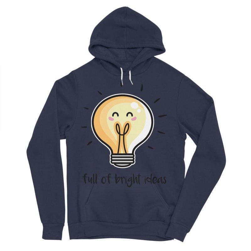 Kawaii Cute Lightbulb Of Bright Ideas Men's Sponge Fleece Pullover Hoody by Flaming Imp's Artist Shop
