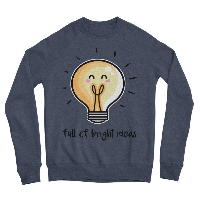 Kawaii Cute Lightbulb Of Bright Ideas Women's Sponge Fleece Sweatshirt by Flaming Imp's Artist Shop